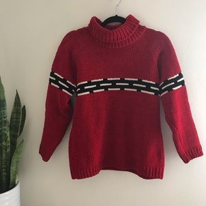 525 Petite Petite - Red Knit Turtleneck Sweater